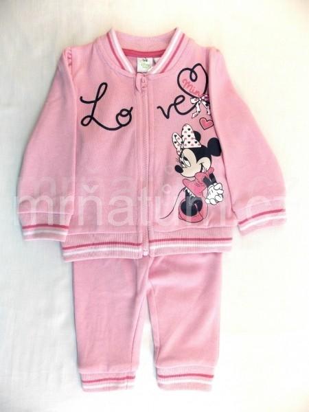 Walt Disney Kojenecká tepláková souprava Minnie Mouse Věk 18-24 (86-92), Barva Světle růžová