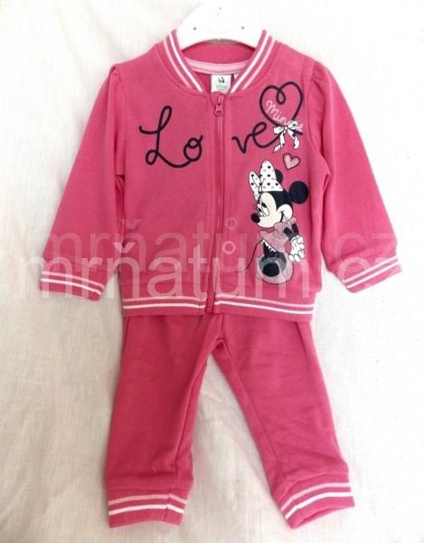 Walt Disney Kojenecká tepláková souprava Minnie Mouse Věk 6-12 (68-80), Barva Tmavě růžová