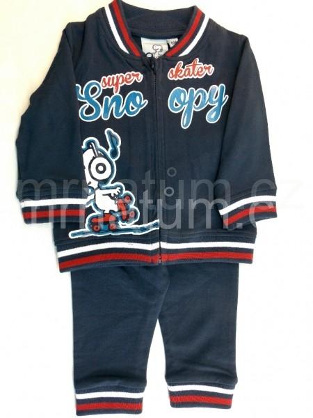 Walt Disney Kojenecká tepláková souprava Snoopy Věk 6-12 (68-80), Barva Modrá