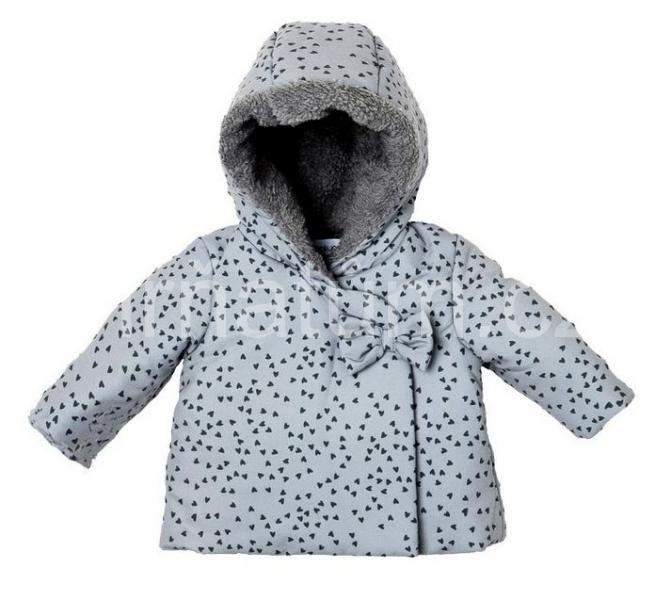 Babaluno dívčí kojenecká zimní bunda s kapucí Věk 0-3 (vel. 62)