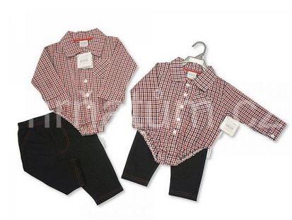 Kojenecké body ve stylu košile s kalhotami 8c22bcee6d