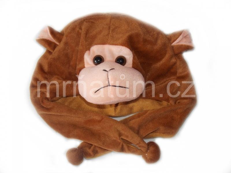 Kojenecká čepička se zvířecím motivem Motiv Opice