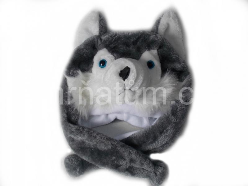 Kojenecká čepička se zvířecím motivem Motiv Vlk