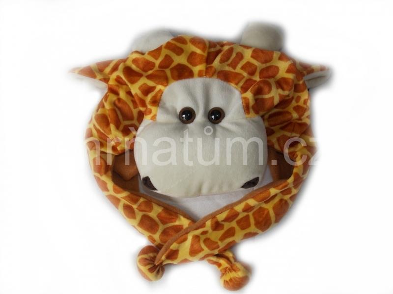Kojenecká čepička se zvířecím motivem Motiv Žirafa