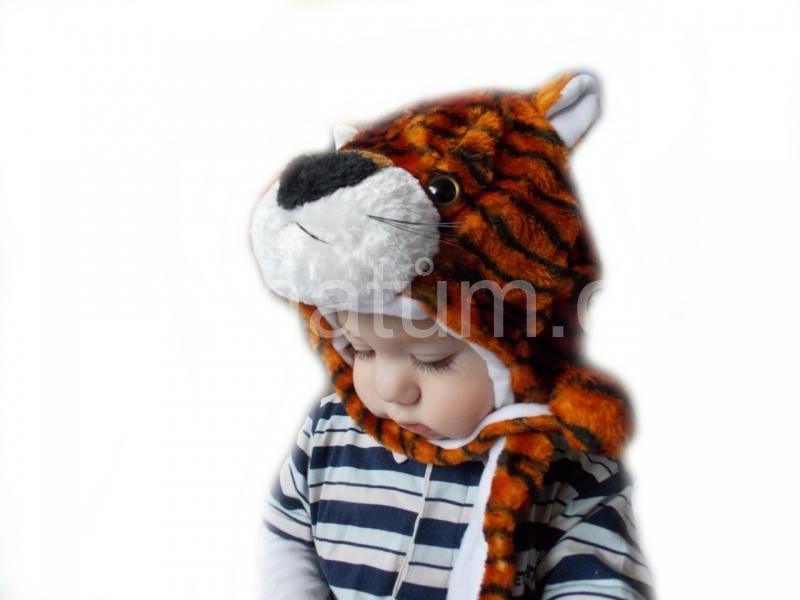 Kojenecká čepička se zvířecím motivem Motiv Tygr