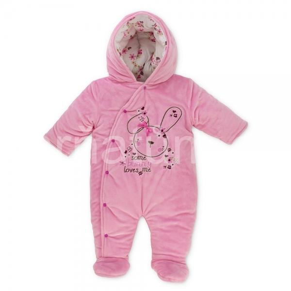 e590ed885aa Pitter Patter dívčí kojenecký zimní overal se zajíčkem