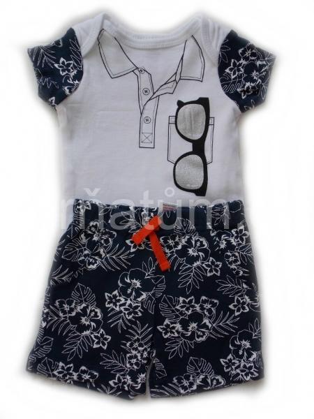 Soft Touch kojenecká souprava bodýčko a šortky Kombinace Květinová, Věk 0-3