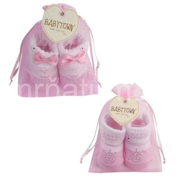 950562d8621 Baby Town dívčí kojenecké ponožky s mašličkou nebo flitry
