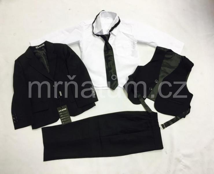 Pětidílný společenský oblek pro chlapce - černá varianta ea0a810e5f