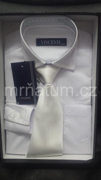 Chlapecká košile s dlouhým rukávem a kravatou b40a58e930