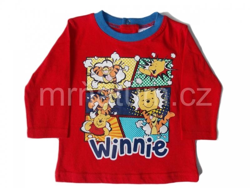 Disney kojenecké triko s dlouhým rukávem s motivem Medvídek Pú Věk 3-6 (62-68), Barva Červená