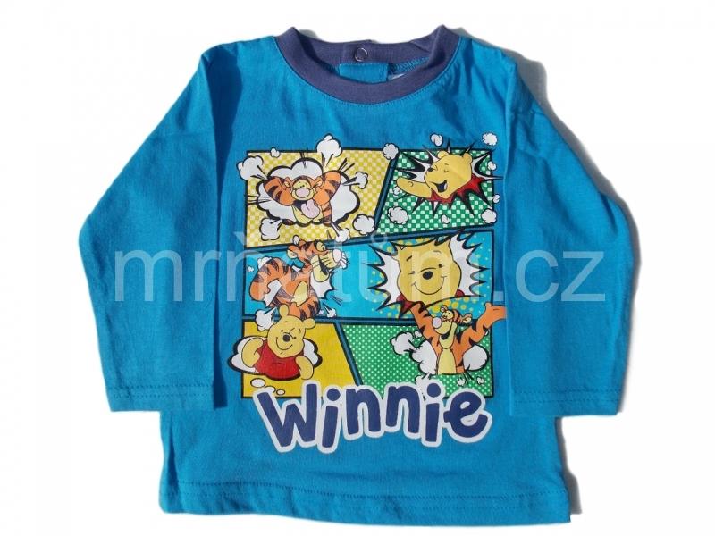 Disney kojenecké triko s dlouhým rukávem s motivem Medvídek Pú Věk 3-6 (62-68), Barva Modrá