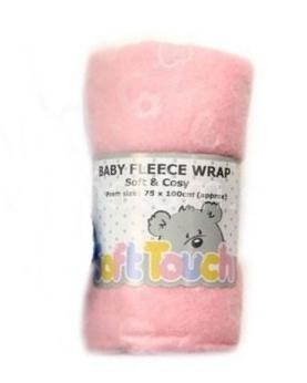 Soft Touch Fleecová deka do postýlky Barva Růžová