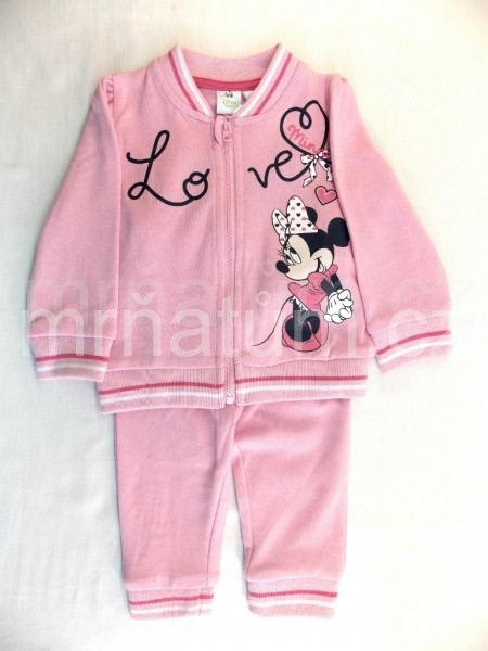 Walt Disney Kojenecká tepláková souprava Minnie Mouse Věk 3-6 (62-68), Barva Světle růžová