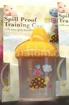 First Steps Nádobka s dvěma uchy pro kojence a batolata Barva a motiv Žluté víčko, želvička